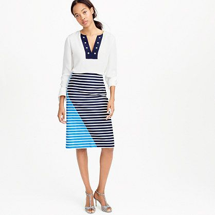 J.Crew+-+Colorblock+stripe+skirt