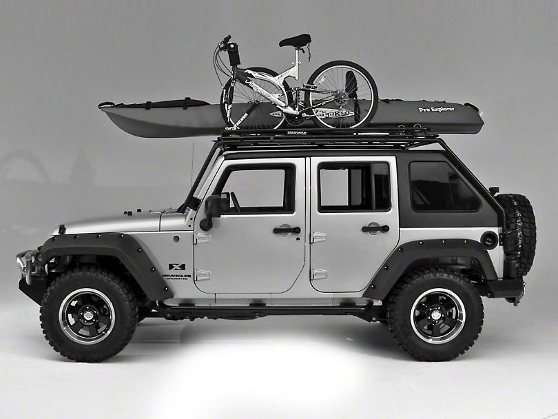 aeroblade rapid black unlimited roof install gutter wrangler foot img jeep rack outfitters thule
