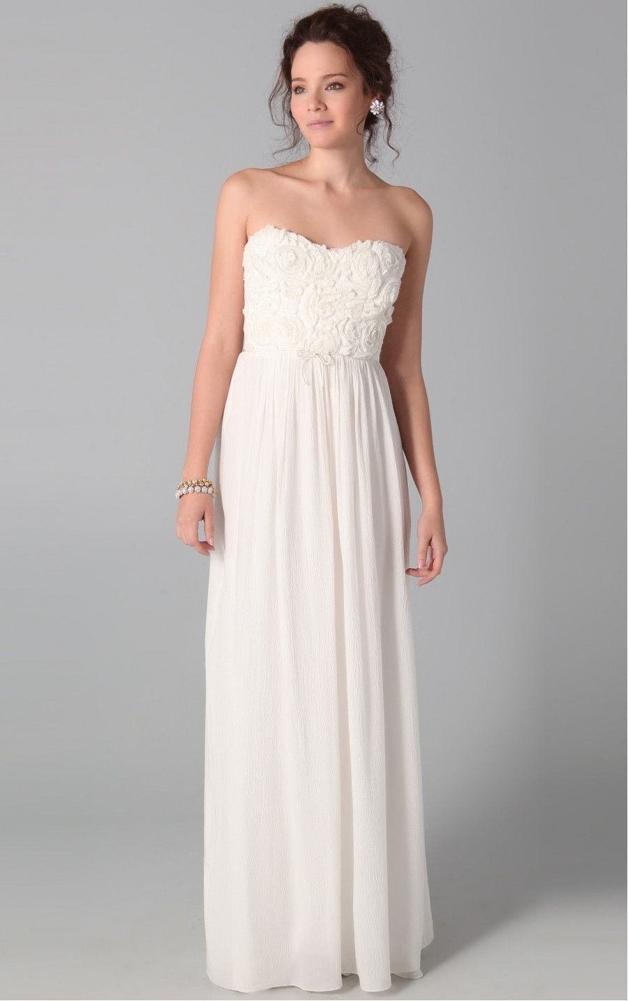 Amazing White Sheath Floor-length Strapless Dress | beautiful attire ...