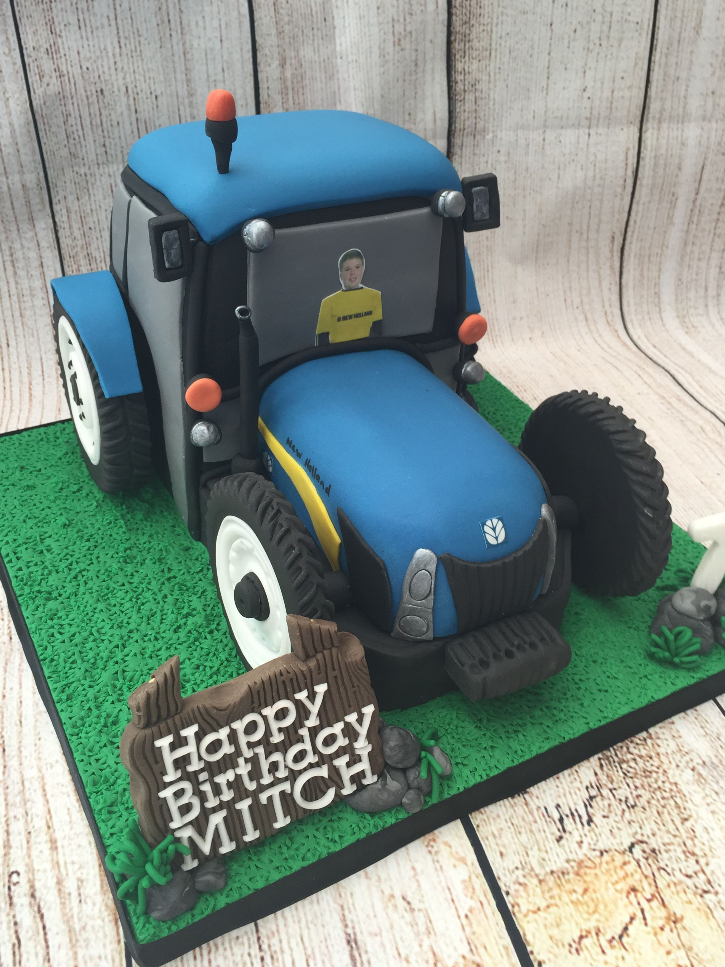 New Holland Tractor Birthday Cake Tractor Birthday Cakes Tractor Birthday Farm Birthday Cakes