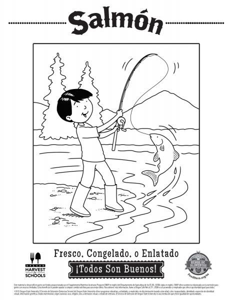 coloring pages food hero fish coloring sheets for kids free and easy to print in spanish coloringpage
