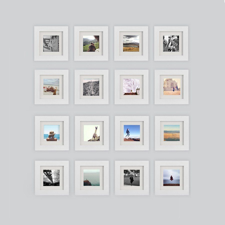 16 pack white 6x6 photo frame 4x4 matted gallery wall and woods 16 pack white 6x6 photo frame 4x4 matted tiny mighty jeuxipadfo Images