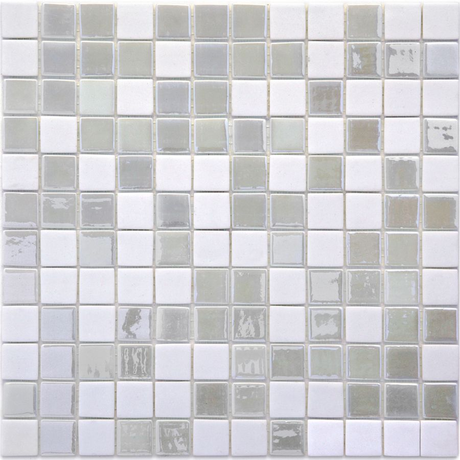 Shop Solistone 10 Pack 12 In X 12 In Luxor White Glass Mosaic Floor