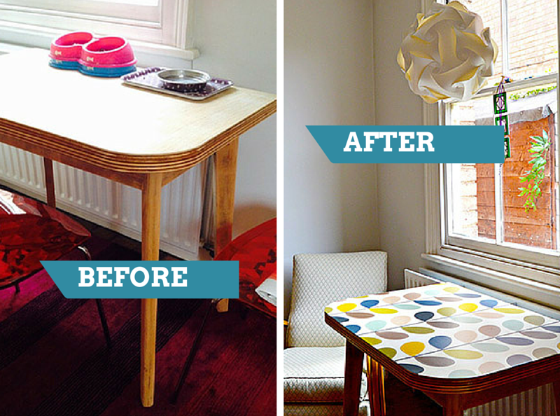 Brilliant ideas for upcycling with wallpaper | Pintando muebles ...