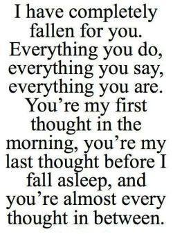 Cute falling for you quotes