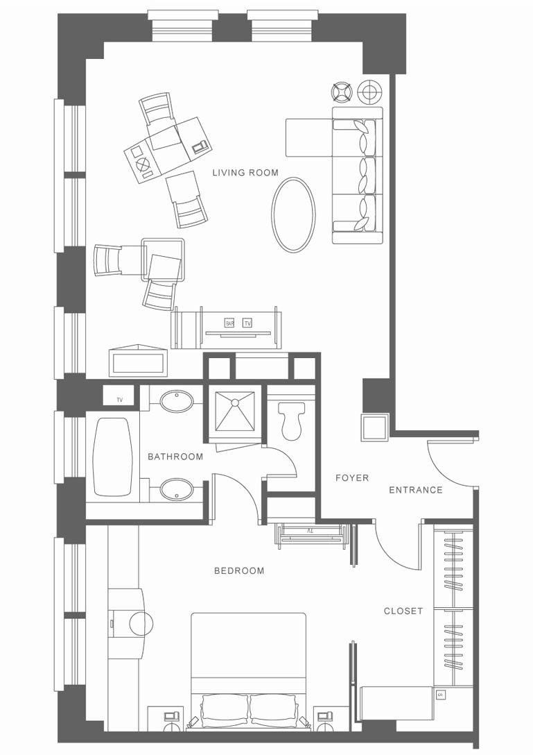 Hotel Building Plans And Designs Suite Features Small Design Ideas Room Layout Dimensions Floor Plan Sample Su Room Layout Room Layout Design Hotel Room Design