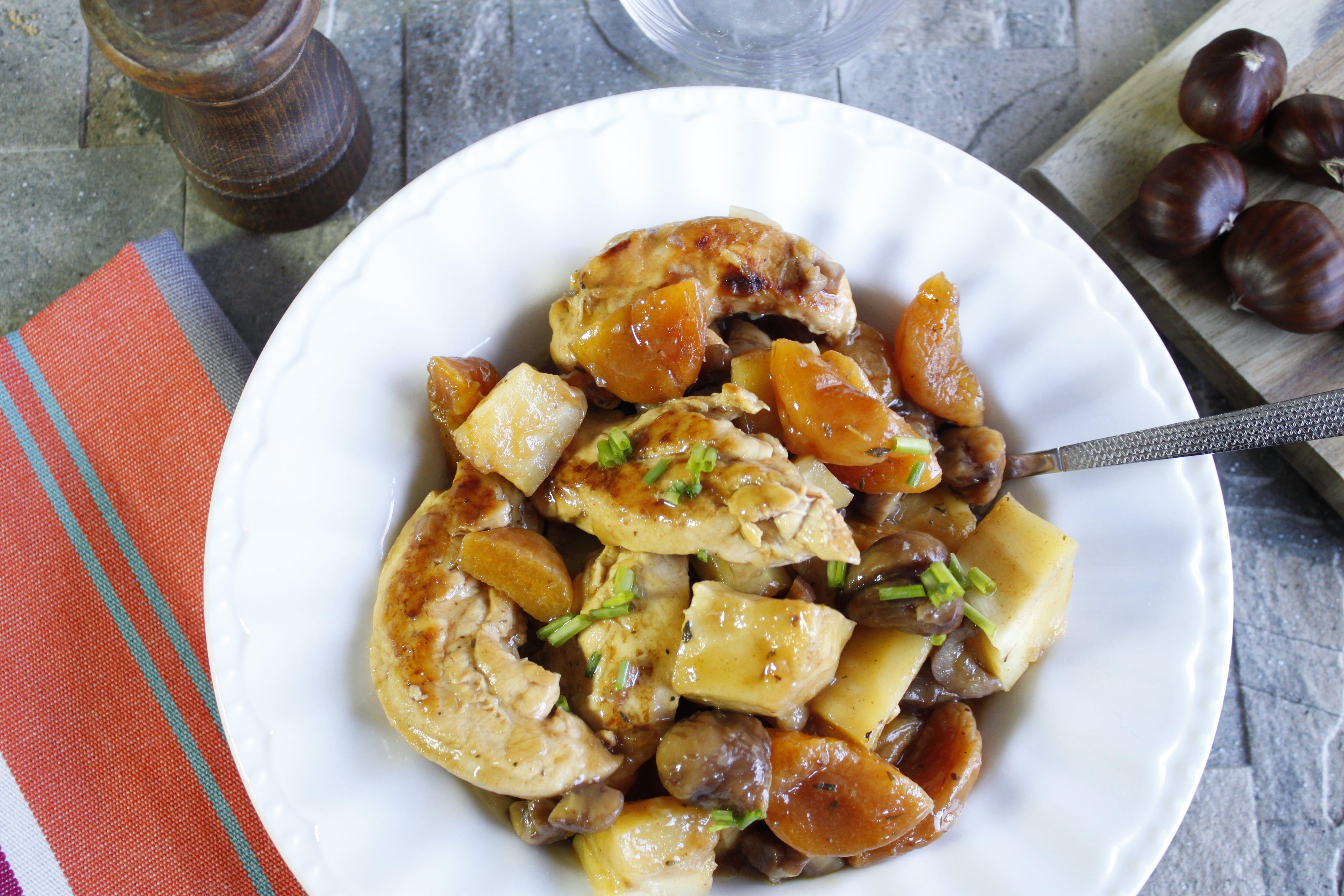 poulet aux marrons et abricots cookeo recette cookeo recette recette recette poulet