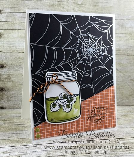 Border Buddy Saturday - Jar of Haunts Stamp Set Pinterest Jar - halloween catalog