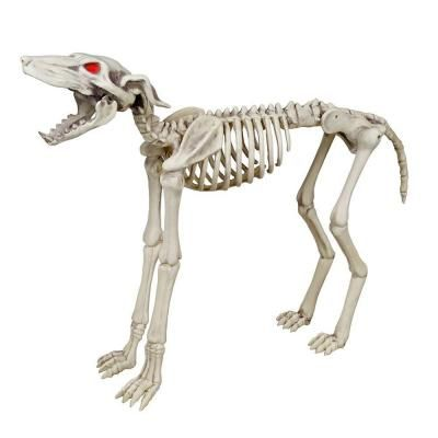 Home Accents Holiday 26 In Animated Skeleton Greyhound With Led Illuminated Eyes 6342 36559 The Home Depot Dog Skeleton Home Depot Halloween Greyhound