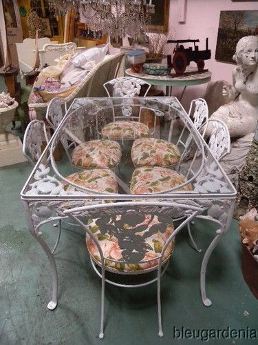 iron patio furniture woodard pomegranate set offered on ebay for