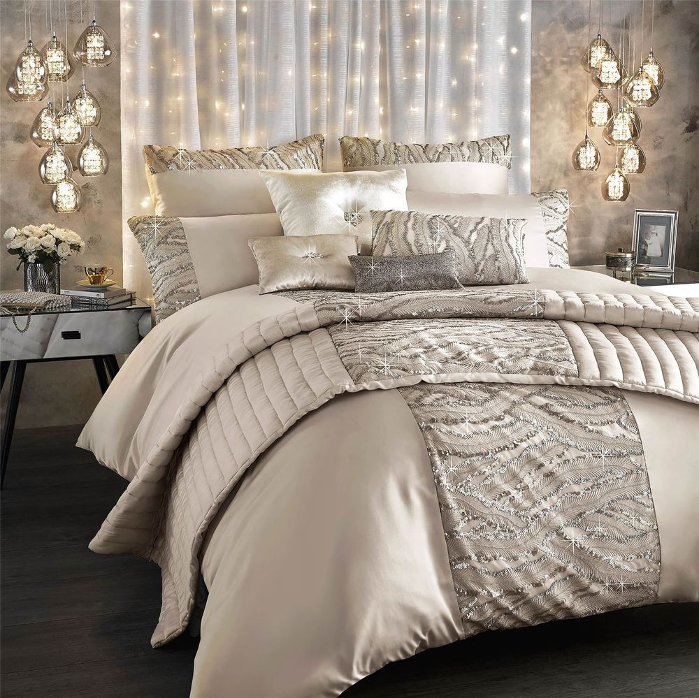 Kylie Minogue Celeste Shell Satin 200tc 100 Cotton Double Duvet