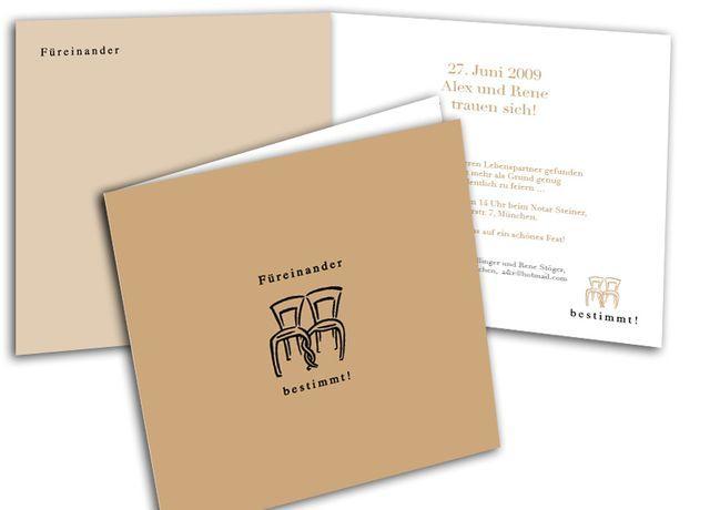 Hochzeitskarte+-+Füreinander+-+Miteinander