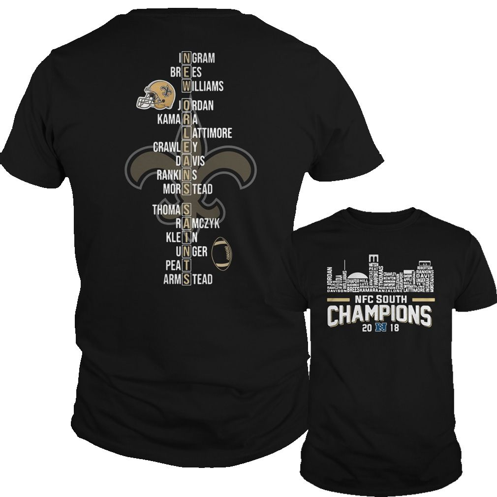 New Orleans Saints NFC south champions 2018 shirt  f0a18cba8