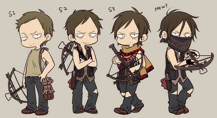 Evolution of Daryl from The Walking Dead
