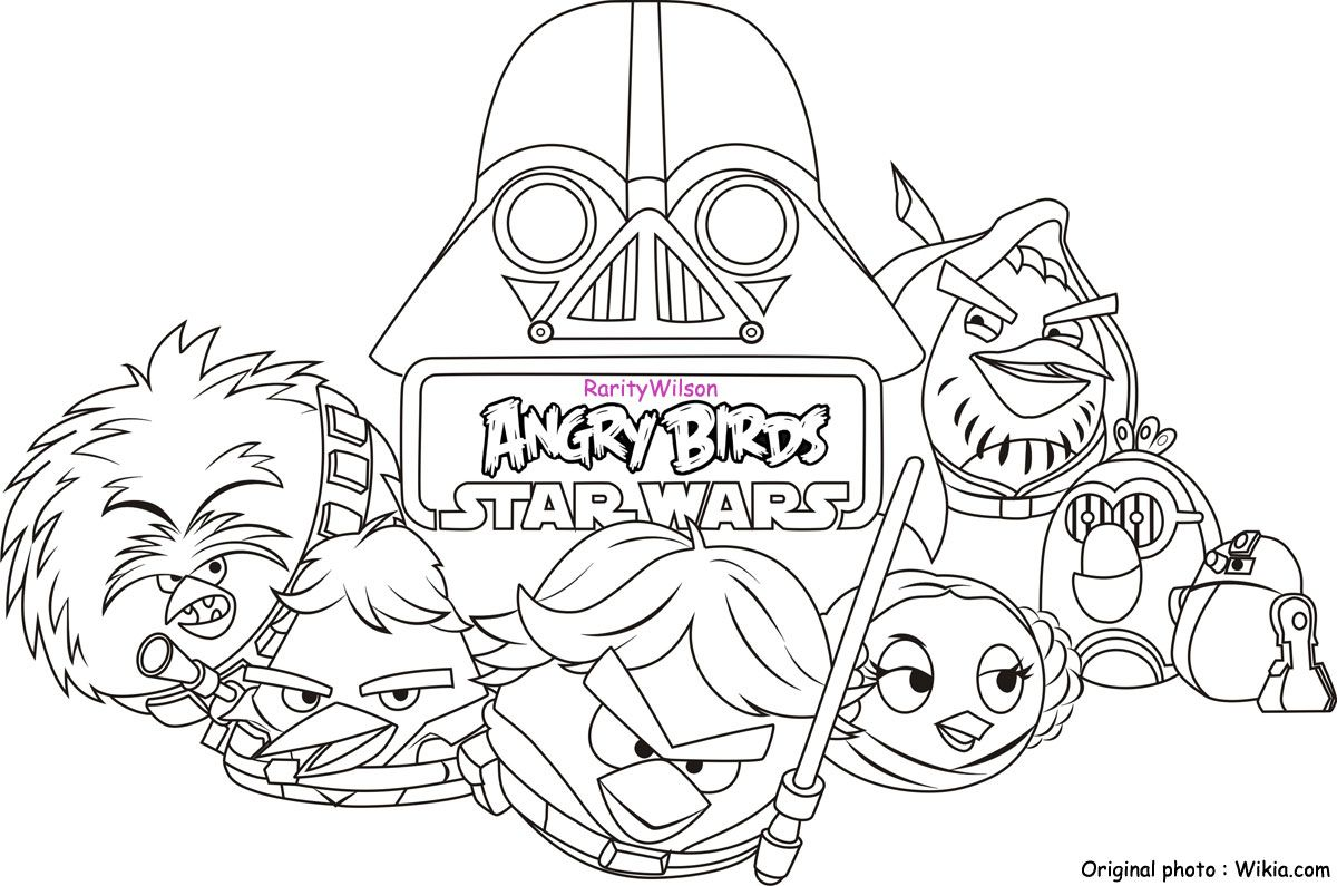 Free Coloring Pages Download Angry Birds Star Wars Of