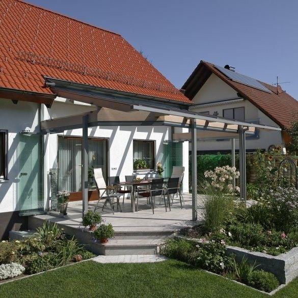 Kaltwintergarten verschönert eine Terrasse im Raum Forchheim - 28 ideen fur terrassengestaltung dach
