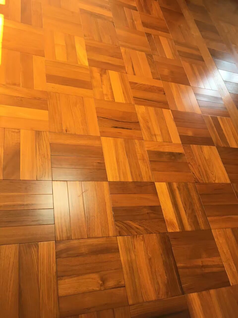 Burma Teak Hardwood Flooring In Parquet Style More Details About