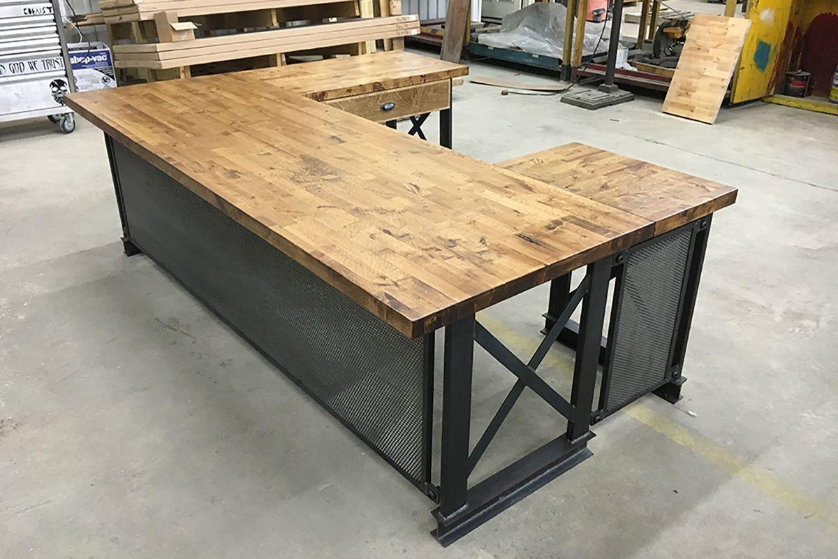 rustic industrial desk chair