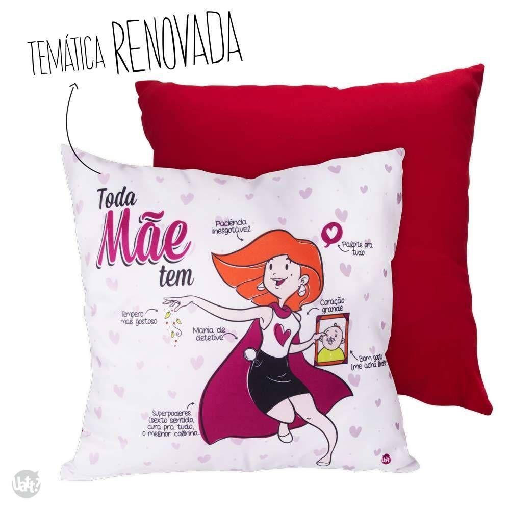 0f608ac28efce2 Almofada Mãe — LY Presentes Criativos | Pillows | Almofadas, Capas ...