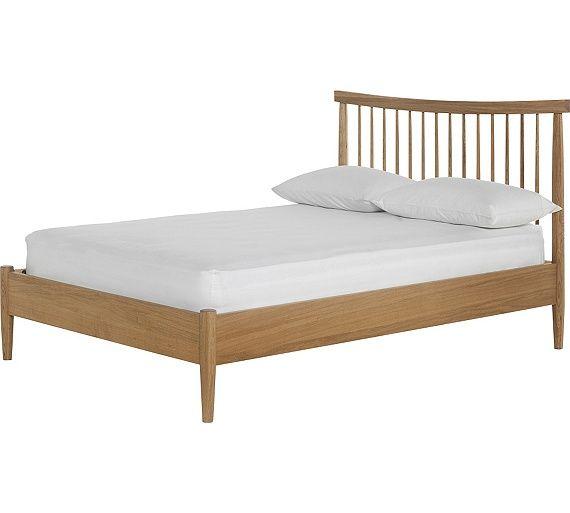 159 buy heart of house dorset spindle kingsize bed frame - oak at