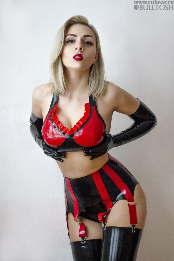 Katerina Piglet Rubear Red Latex