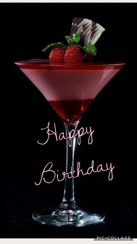 "to you!/"" martini Card /""HAPPY Birthday"