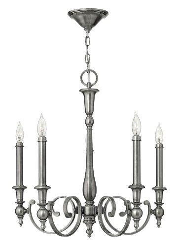 Hinkley Lighting 3625 Chandeliers Yorktown Indoor Lighting ;Antique Nickel, Brown
