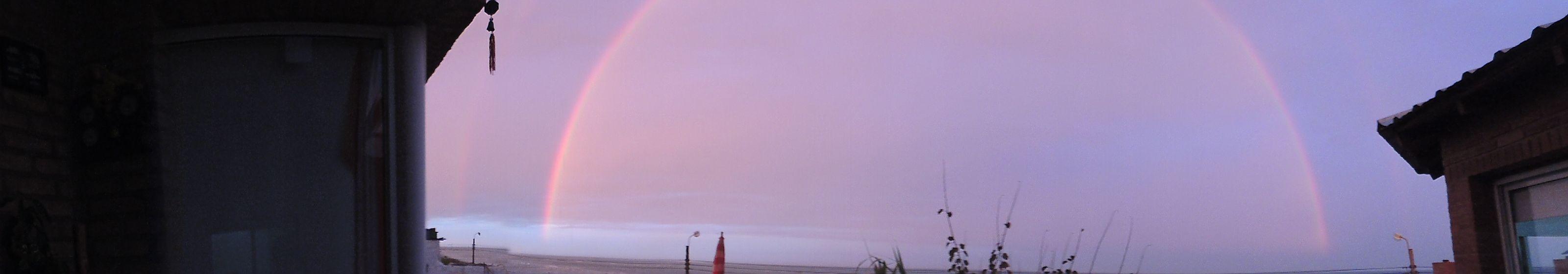 arco iris en patagonia