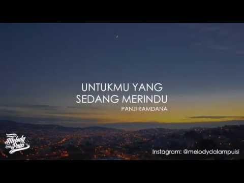 Panji Ramdana Untukmu Yang Sedang Merindu Melodi Dalam Puisi