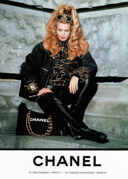 Claudia Schiffer by Karl Lagerfeld for Chanel Spring 1992/93