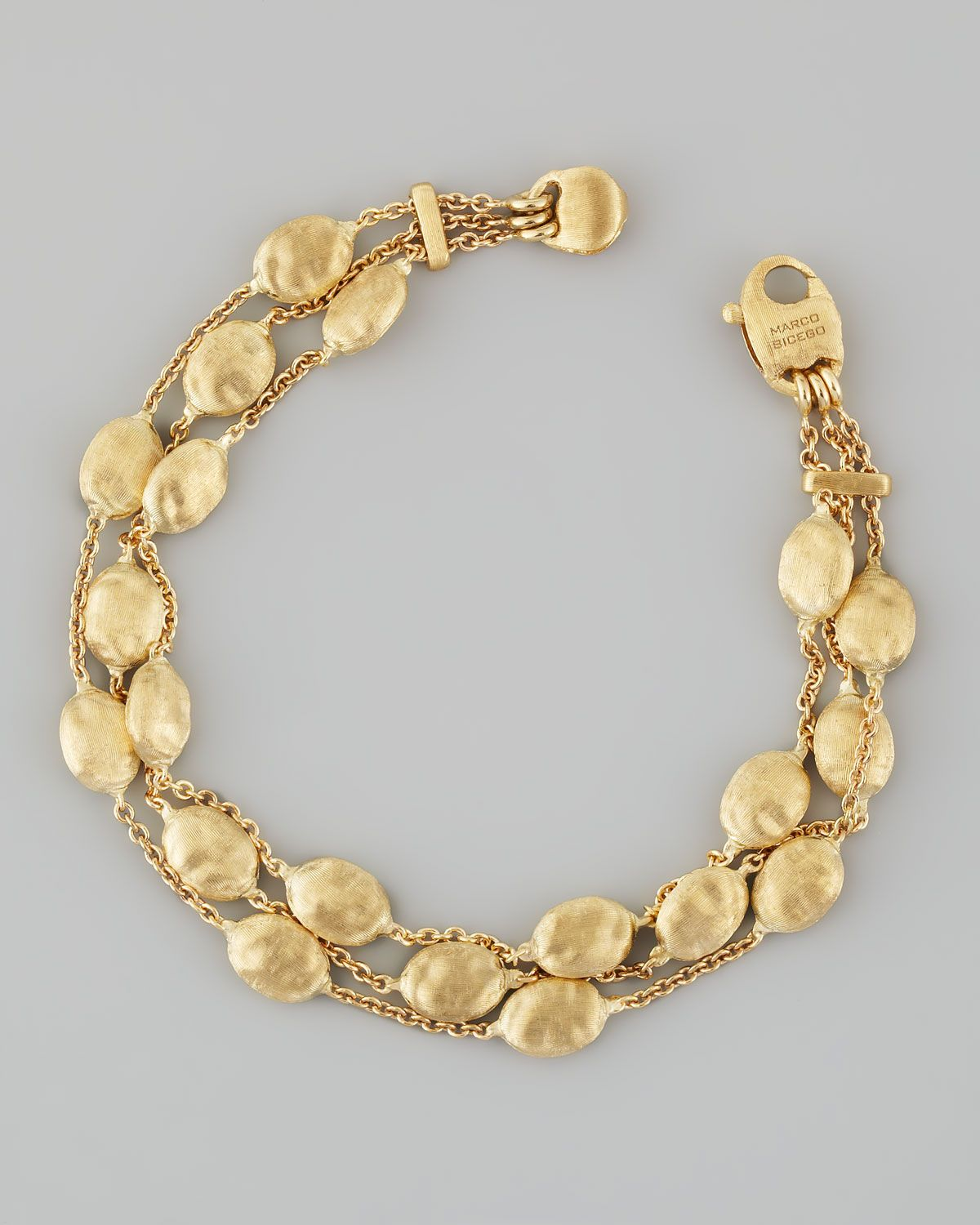 gold bracelet bicego y en jewels yellow delicati marco