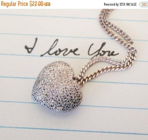 ON SALE Vintage Milor Heart Necklace Sterling by WeeLambieVintage