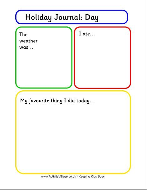 keep kids writing over the summer with these free holiday journal templates the fun writing - Kids Free Holiday