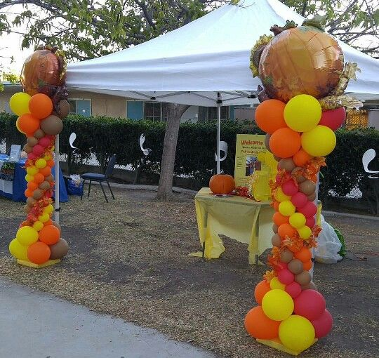 Thanksgiving columns | Fall festival decorations ...