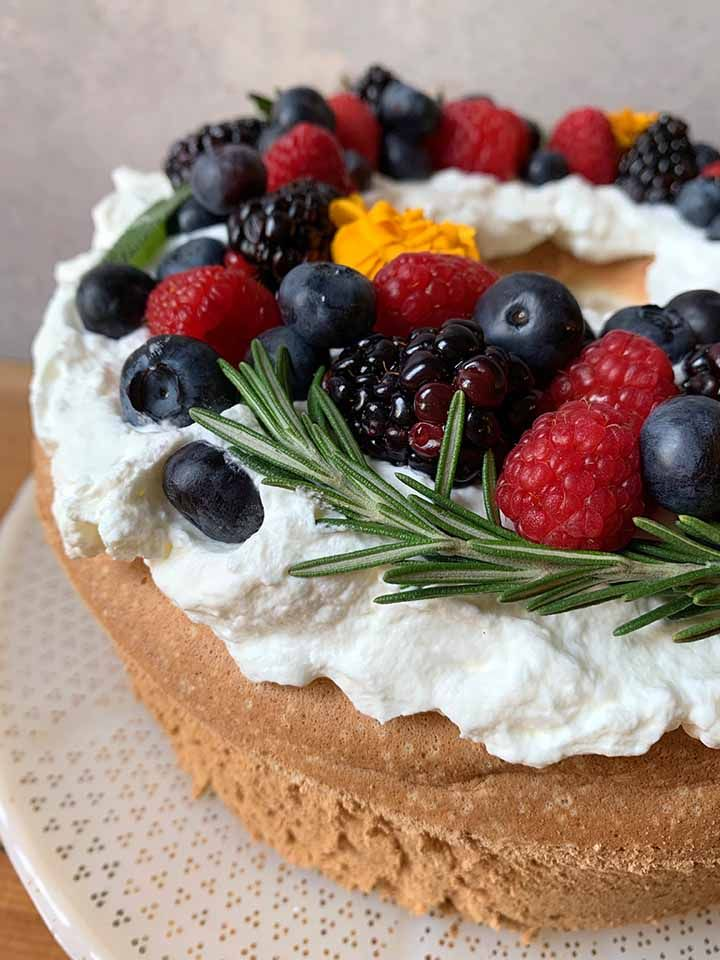 Low carb angel food cake resolution eats in 2020 cake