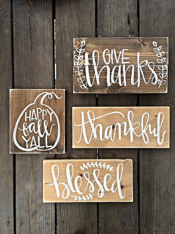Wooden Decor Signs Fall Decor Wooden Signs  Thanksgiving  Pinterest  Fall Decor