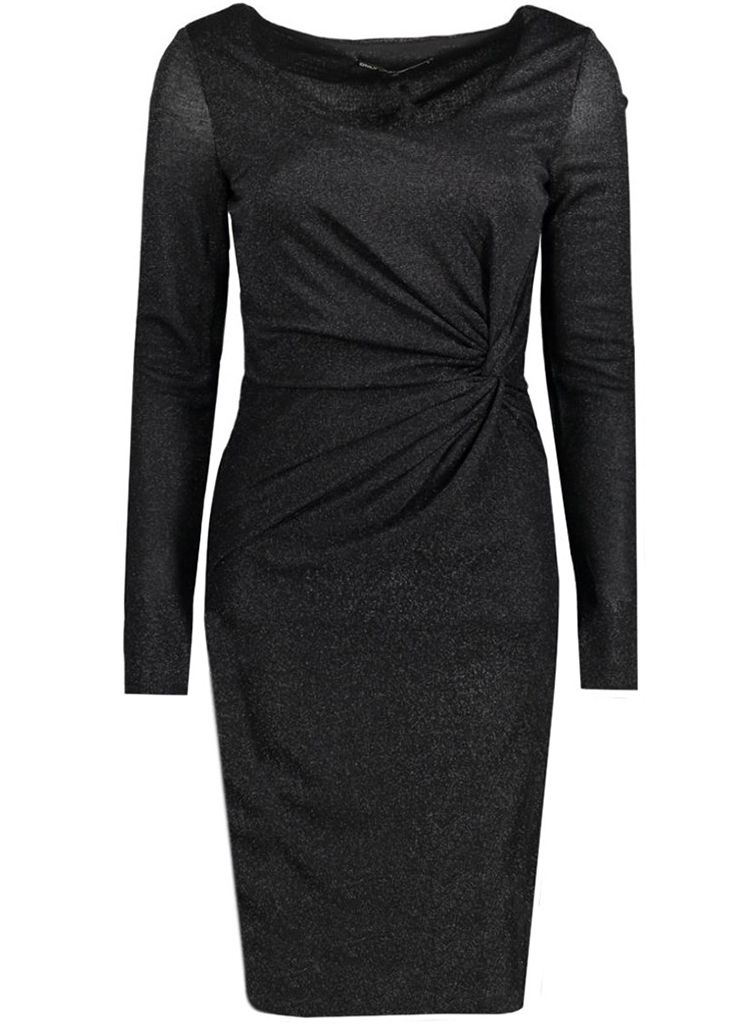 4965e90ef42248 Only ONLRAMONA LS KNOT DRESS Jurk black Description  Only onlramona ls knot dress  Dames kleding