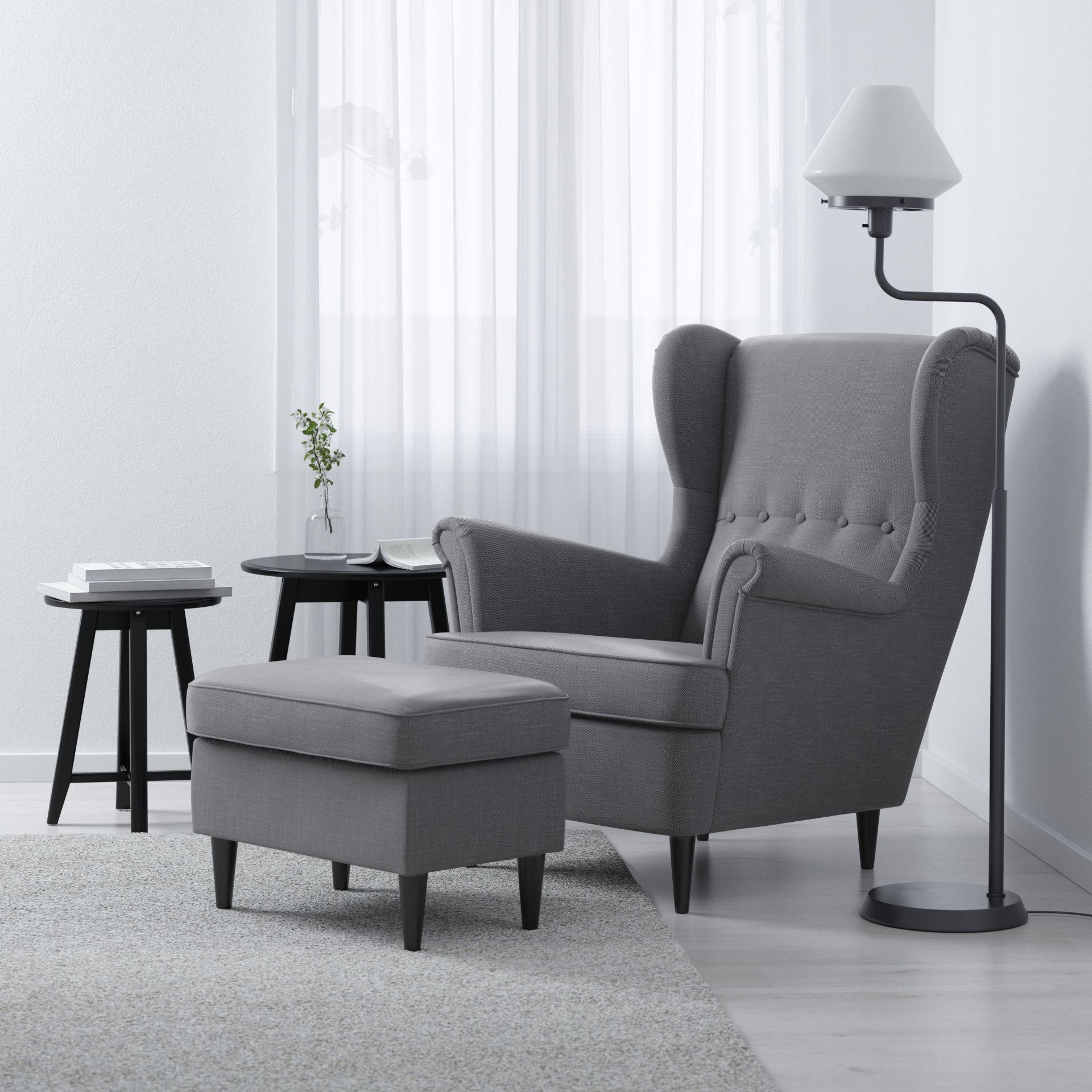 Strandmon Oorfauteuil Nordvalla Donkergrijs Ikea Ideeen Voor Een Kamer En Interieur