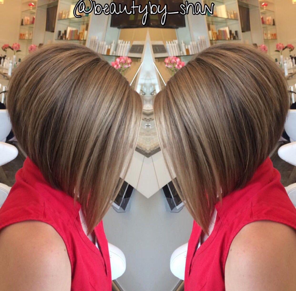 Short To Long Haircut Inverted Bob Bob Short In The Back Long In