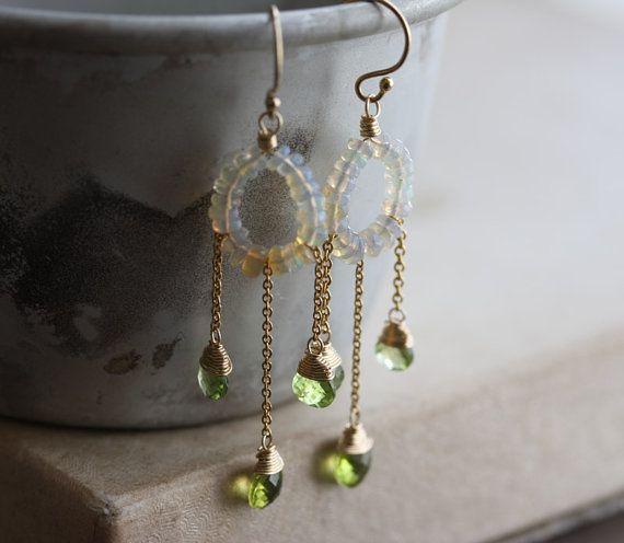 Welo opal peridot chandelier earrings 14k gold filled by kianda welo opal peridot chandelier earrings 14k gold filled by kianda mozeypictures Choice Image