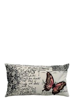Antique Butterfly Pillow 11 X 21 Butterfly Pillow Pillows Throw Pillows