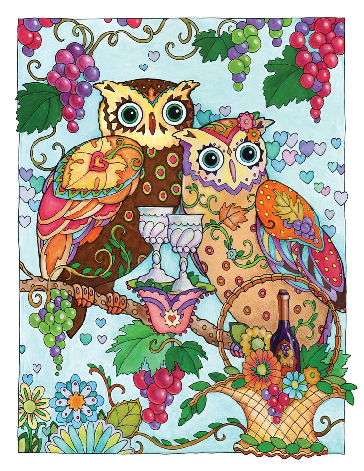 Creative Haven Owls Coloring Book By Marjorie Sarnat Sweeter