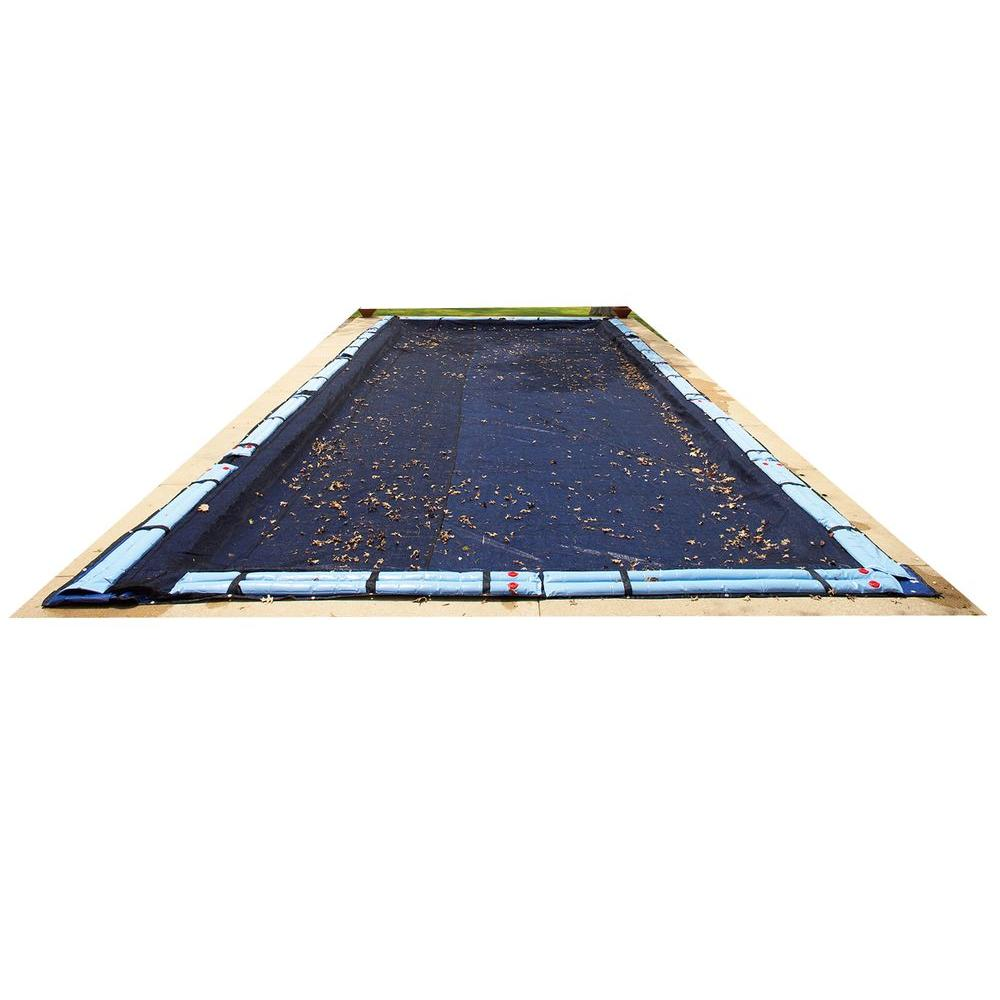 Blue Wave 16 Ft X 32 Ft Rectangular In Ground Pool Leaf Net Cover Bwc558 The Home Depot Winter Pool Covers Pool Cover Inground Pool Covers