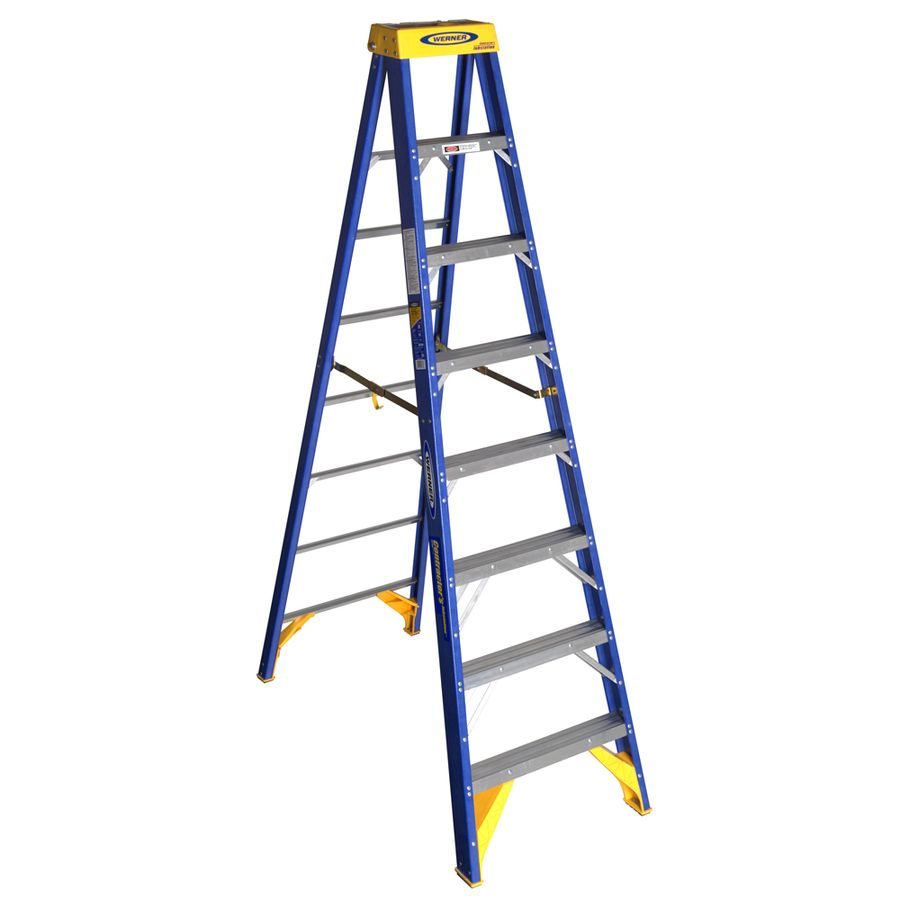 Werner Obcn00 8 Ft Fiberglass Type 1aa 375 Lbs Capacity Step Ladder Obcn08 In 2020 Ladder Home Depot Little Giants