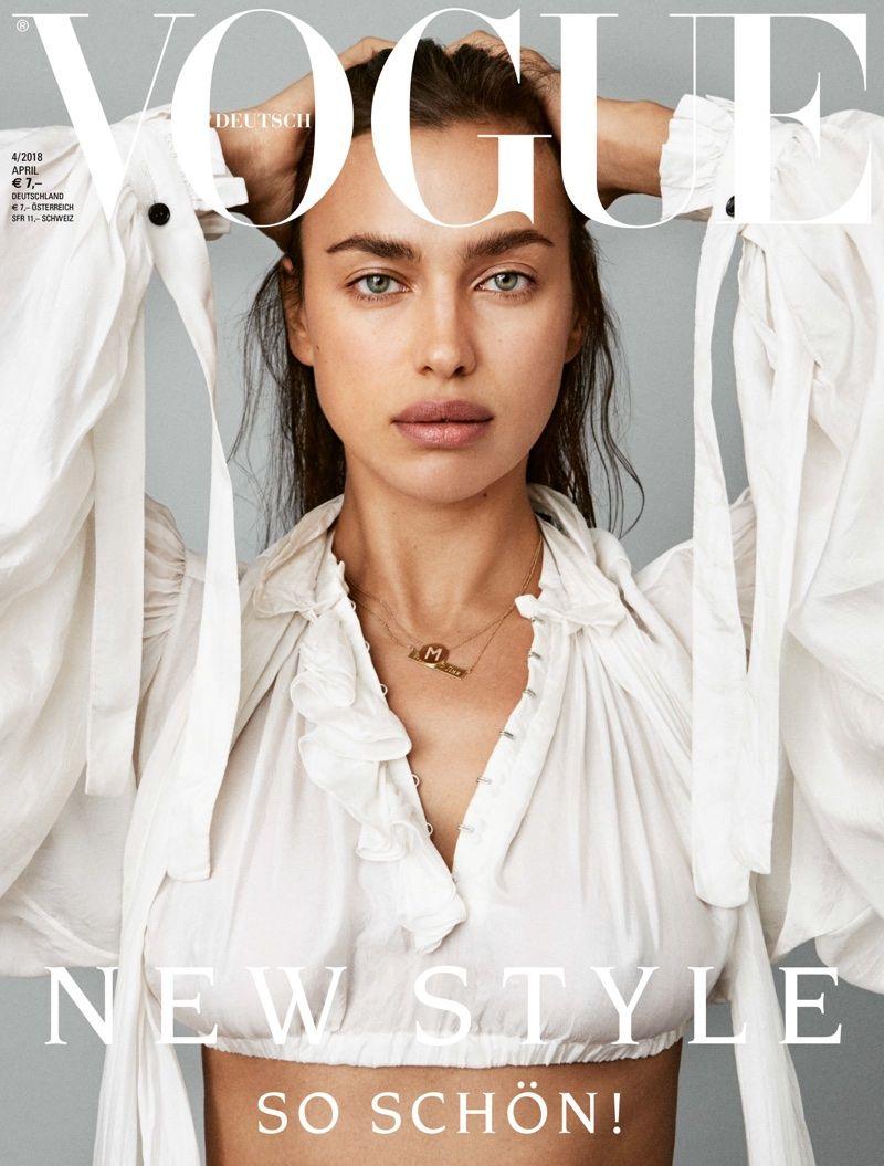 Irina Shayk on Vogue Germany April 2018 Cover