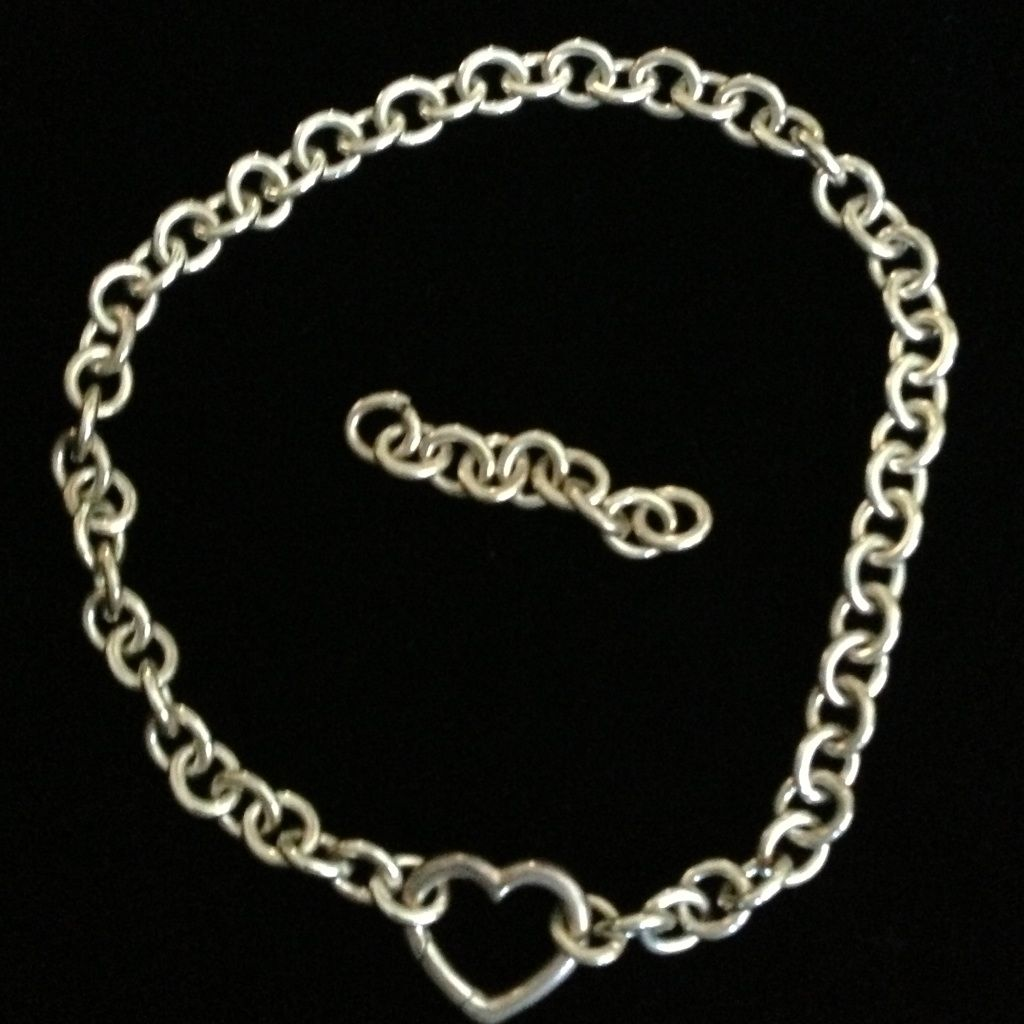 Authentic tiffany u co heart link chain necklace products