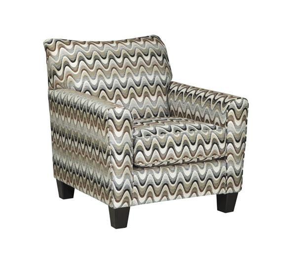 Gayler Contemporary Black White Fabric Accent Chair Black