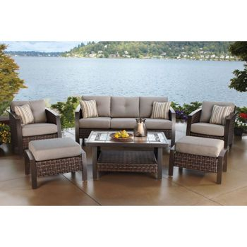 Favorite At Costco   Santa Ana 6 Piece Deep Seating Set