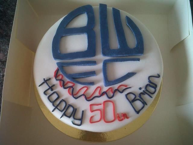 Bolton Wanderers Football Themed Birthday Cake Birthday Cakes