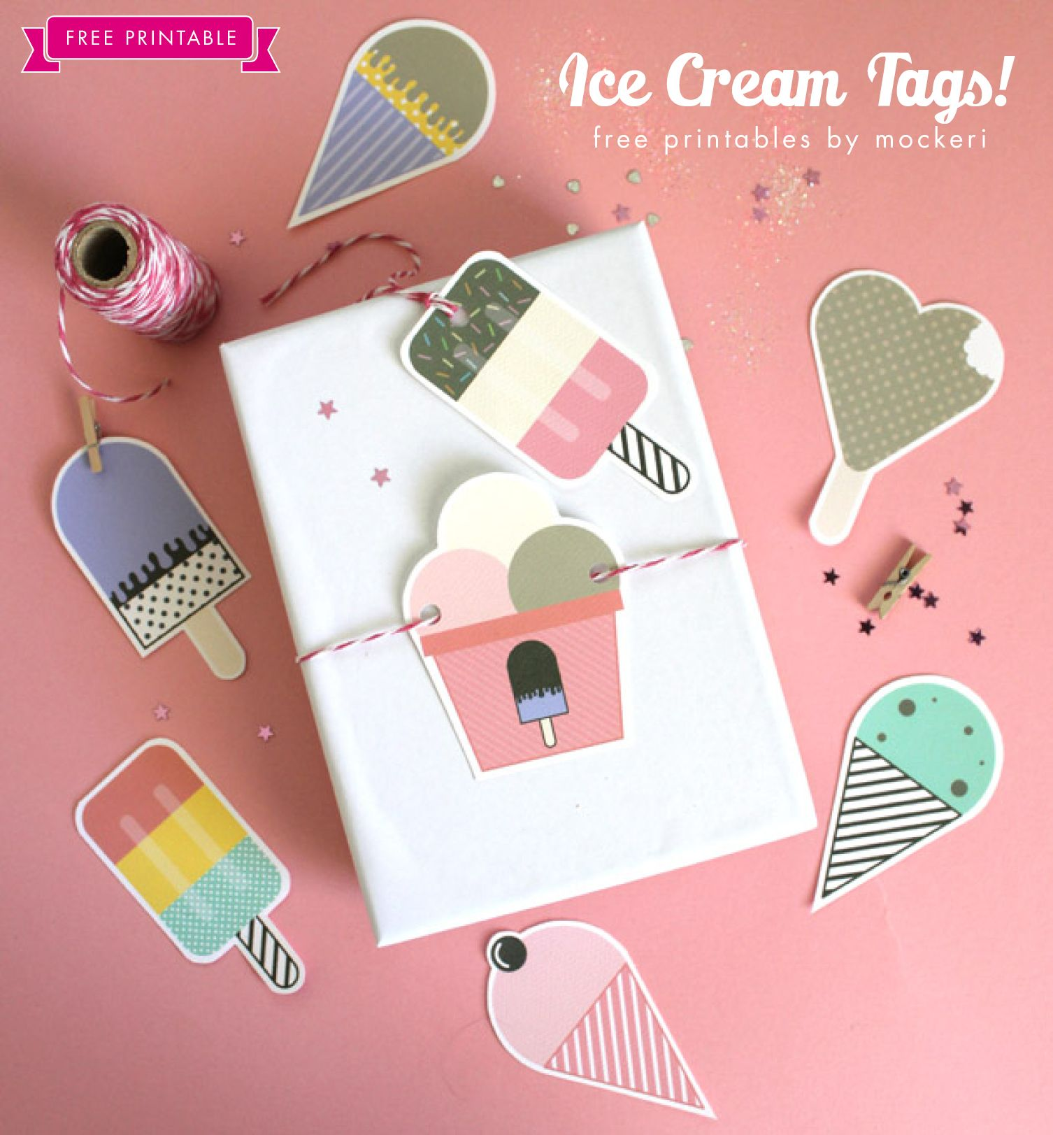 Perfect for summer free printable ice cream tags find more free free printable ice cream gift tags for summer gifts negle Choice Image
